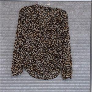 Guess leopard shirt